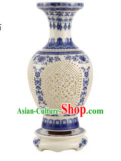 Asian China Style Desk Lanterns Traditional Chinese Ancient Porcelain Bottle Lamp Palace Lantern