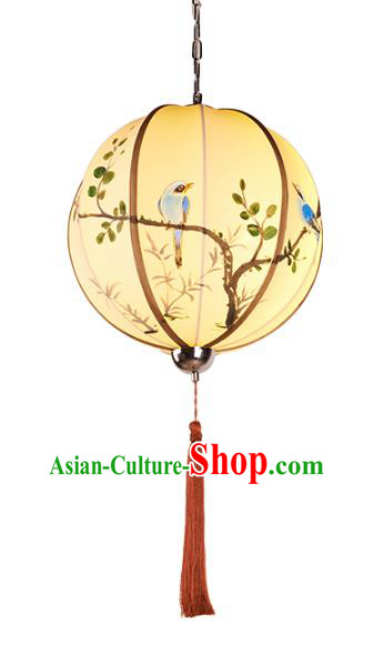 China Handmade Hanging Lantern Traditional Printing Lanterns New Year Palace Ceiling Lamp