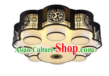 China Handmade iron Black Ceiling Lantern Traditional Ancient Lanterns Palace Lamp