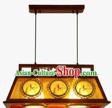 China Handmade Ceiling Lantern Traditional Ancient Two-Lights Lanterns Palace Lamp