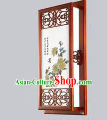 Asian China Handmade Wall Lanterns Traditional Chinese Ancient Lamp Printing Chrysanthemum Palace Lantern