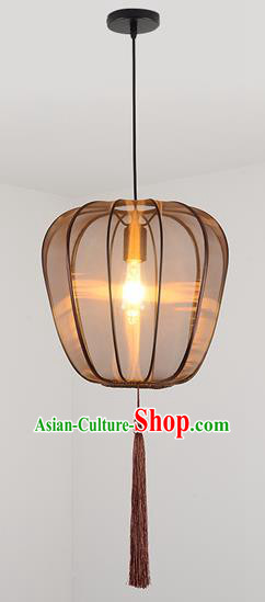 China Handmade Pumpkin Lantern Traditional Ancient Hanging Lanterns Palace Ceiling Lamp