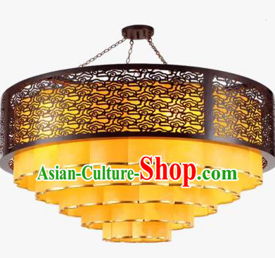 China Handmade Wood Ceiling Lantern Traditional Ancient Cloud Lanterns Palace Lamp