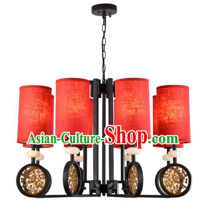 China Handmade Jade Hanging Lantern Traditional Ancient Lanterns New Year Palace Ceiling Lamp