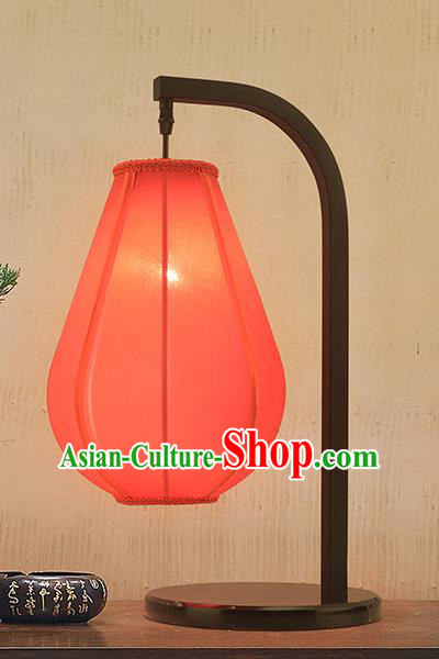 Asian China Style Lanterns Traditional Chinese Ancient Red Desk Lamp Palace Lantern