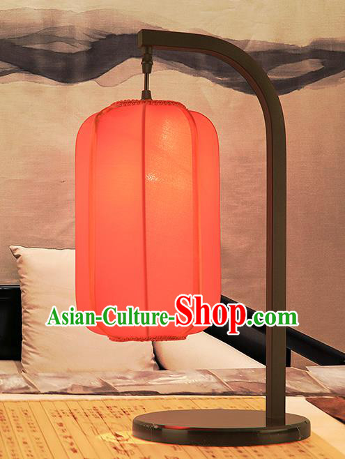 Asian China Style Red Lanterns Traditional Chinese Ancient Desk Lamp Palace Lantern