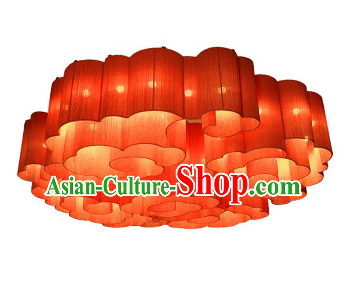 China Handmade Lantern Traditional Lanterns Red Cloud Palace Ceiling Lamp
