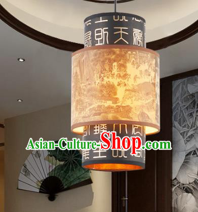 China Ancient Handmade Parchment Hanging Lantern Traditional Ceiling Lamp Palace Lanterns