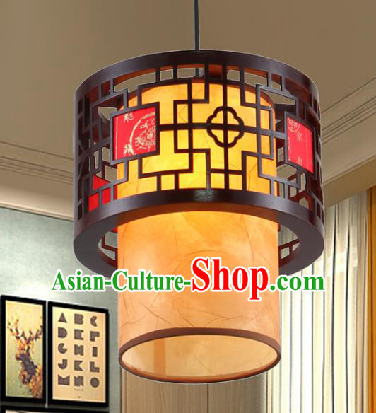 Chinese Handmade Wood Lantern Traditional Palace Ceiling Lamp Ancient Hanging Lanterns