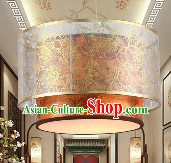 Chinese Handmade Printing Iron Lantern Traditional Palace Ceiling Lamp Ancient Hanging Lanterns