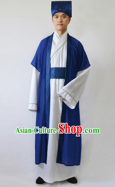 China Ancient Song Dynasty Scholar Costume Theatre Performances Niche Clothing for Men