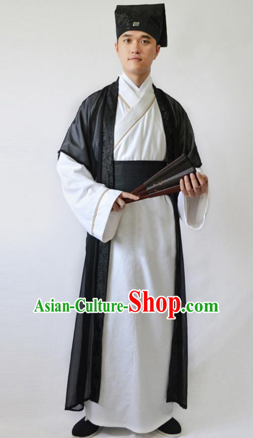 China Ancient Song Dynasty Niche Costume Theatre Performance Scholar Clothing for Men