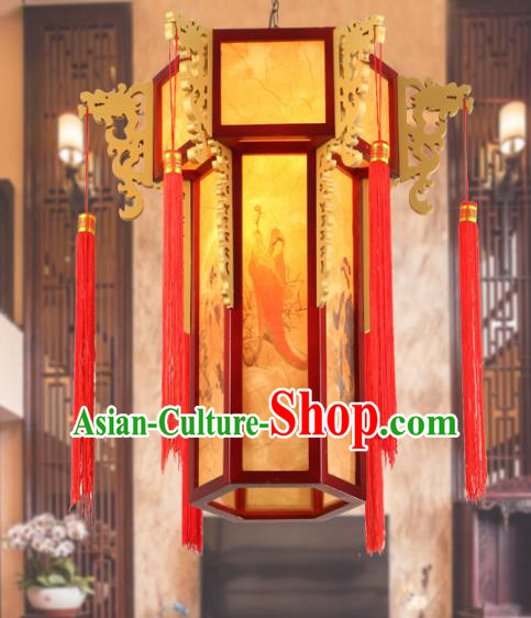 Chinese Handmade Printing Beauty Hanging Lantern Traditional Palace Ceiling Lamp Ancient Lanterns