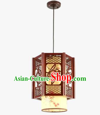 Chinese Handmade Wood Lantern Traditional Palace Hanging Ceiling Lamp Ancient Lanterns