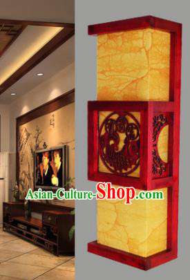 Asian China Handmade Lanterns Traditional Ancient Wood Carving Wall Palace Lantern