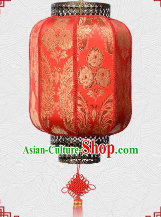 Chinese Handmade Palace Lantern Traditional Phoenix Flower Hanging Lantern Red Ceiling Lamp Ancient Lanterns