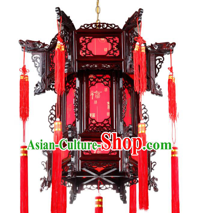 Chinese Handmade Wood Palace Lantern Traditional Hanging Lantern Ceiling Lamp Ancient Lanterns