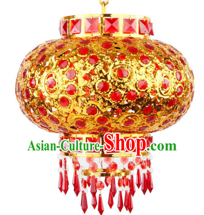 Chinese Handmade Palace Lanterns Traditional New Year Red Hanging Lantern