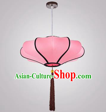 Chinese Classical Handmade Pink Palace Lanterns Traditional Hanging Lantern Ancient Ceiling Lamp