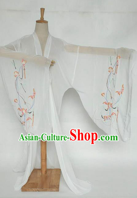 China Tang Dynasty Palace Lady Costume Ancient Princess Embroidered Dragonfly Cardigan for Women