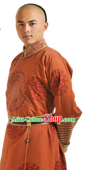 Chinese Qing Dynasty Ten Prince of Kangxi YinE Historical Costume Ancient Manchu Royal Highness Clothing for Men
