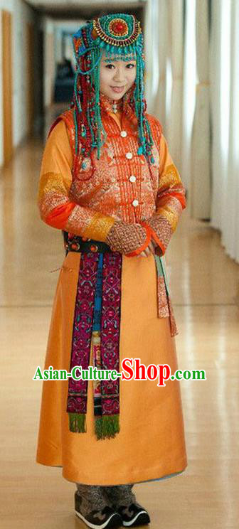 Chinese Qing Dynasty Mongolian Princess Historical Costume Ancient Empress of Shunzhi Clothing for Women