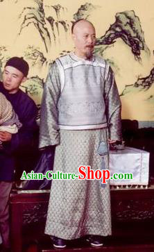 Chinese Qing Dynasty Minister Songgotu Historical Costume Ancient Manchu Warrior Clothing for Men