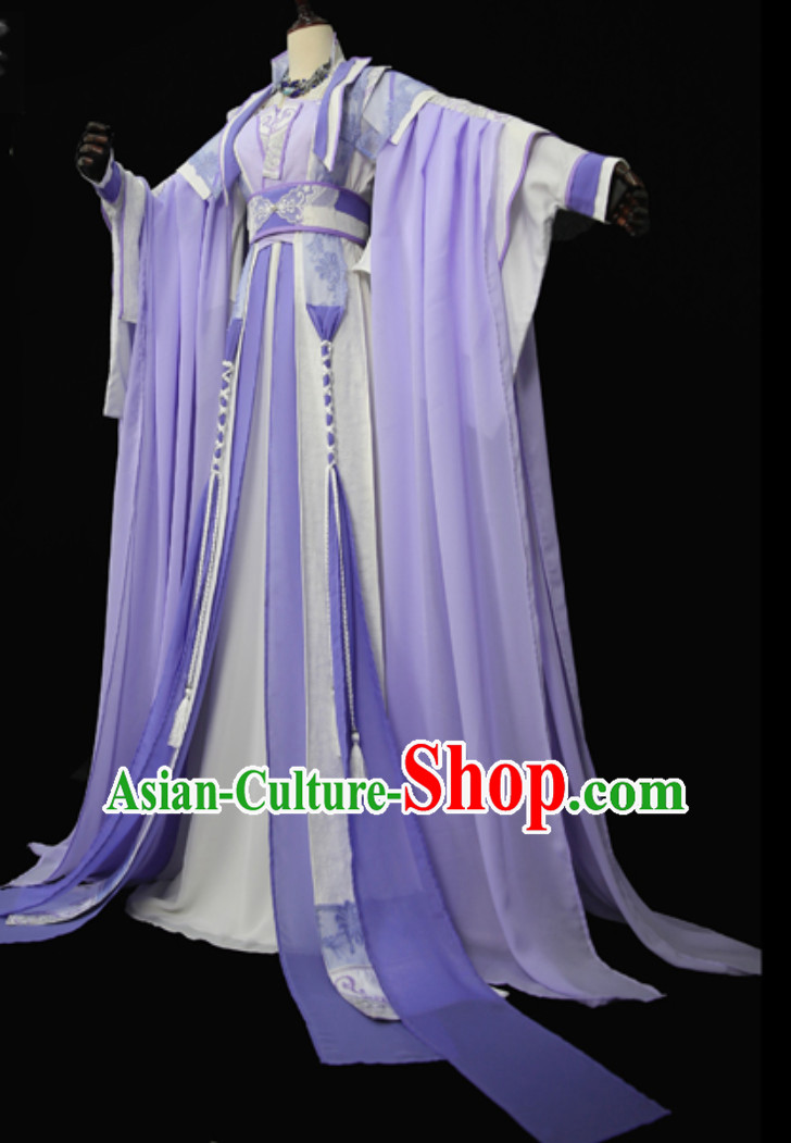 Top Purple Chinese Empress Garment Chinese Imperial Costumes Dramas Empress of China Palace Clothes Complete Set
