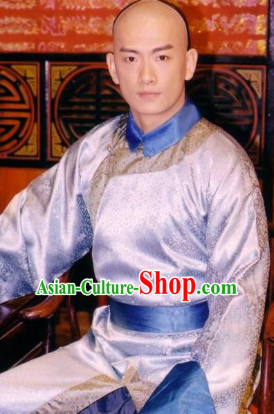 Chinese Qing Dynasty Wu Yingxiong Replica Costumes Ancient Erbprinz Historical Costume for Men