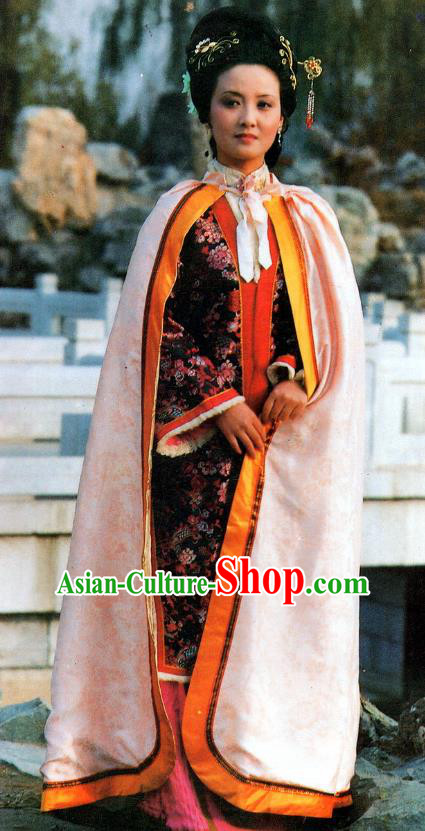 Chinese A Dream in Red Mansions Ancient Nobility Mistress Wang Xifeng Dress Replica Costumes for Women