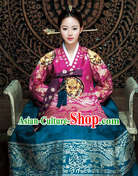 Korean Traditional Empress Palace Hanbok Clothing Korea Fashion Apparel Dress for Women