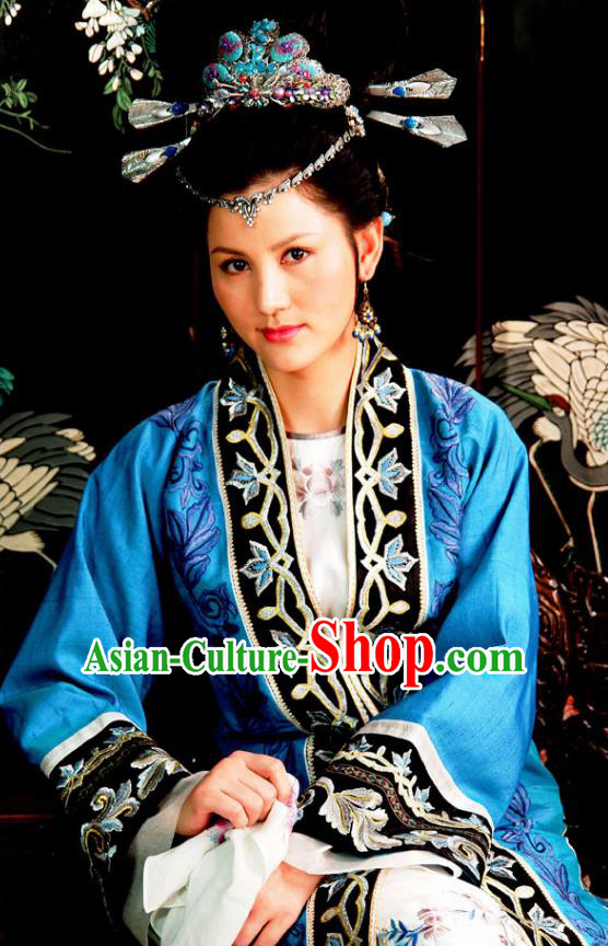 Chinese Ancient A Dream in Red Mansions Character Young Ruffian Xue Pan Costume for Men