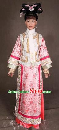 Chinese Ancient Qing Dynasty Manchu Princess Consort Embroidered Costume for Women