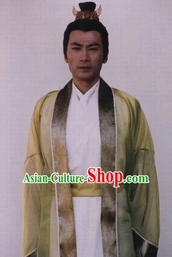 Chinese Ancient Prince Costume Ming Dynasty Royal Highness Ning Zhu Chenhao Clothing for Men