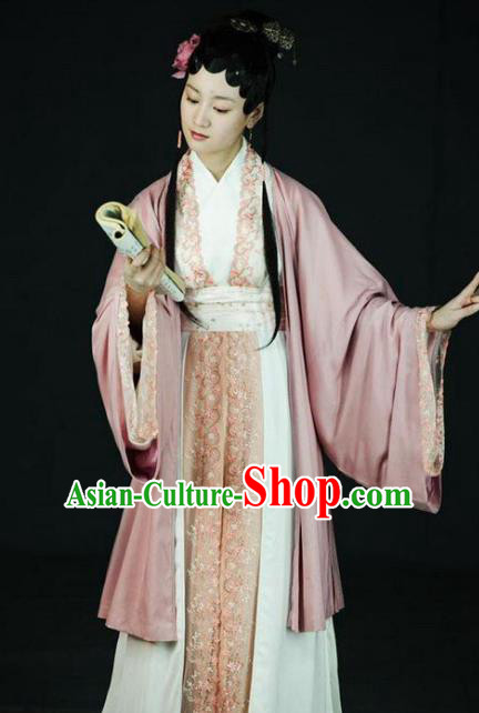 Chinese Ancient Novel Character A Dream in Red Mansions Nobility Lady Jia Tanchun Costume for Women