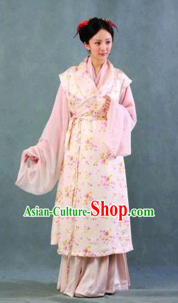 Chinese Ancient Novel Character A Dream in Red Mansions Maidservants Qingwen Costume for Women