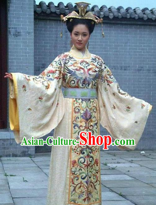 Chinese Ancient Palace Lady Costume Ming Dynasty Empress of Yongle Embroidered Dress for Women