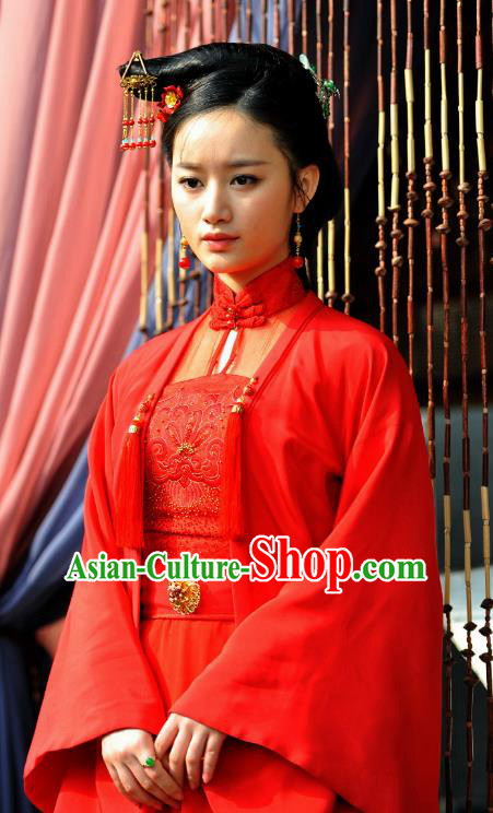 Chinese Ancient Ming Dynasty Princess Embroidered Costume for Women
