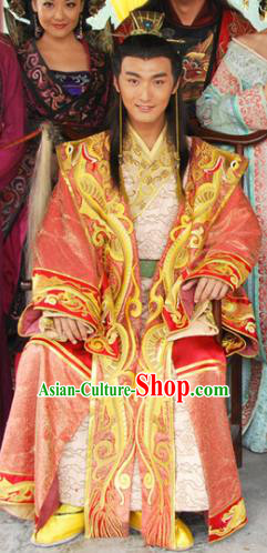 Traditional Chinese Ancient Ming Dynasty Emperor Xi Zhu Youxiao Replica Costume Imperial Robe for Men