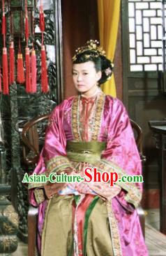 Ancient Chinese Ming Dynasty Queen Mother Embroidered Historical Costume Empress Dowager Replica Costume for Women