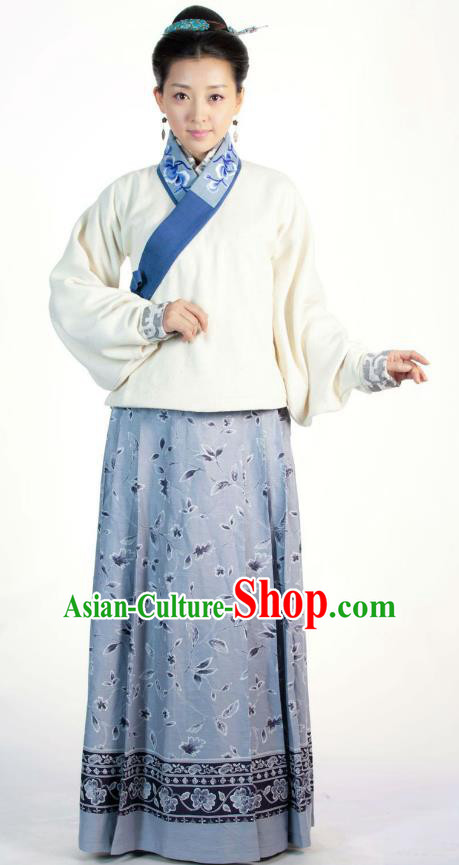 Ancient Chinese Ming Dynasty Historical Costume Female Embroider Replica Costume for Women