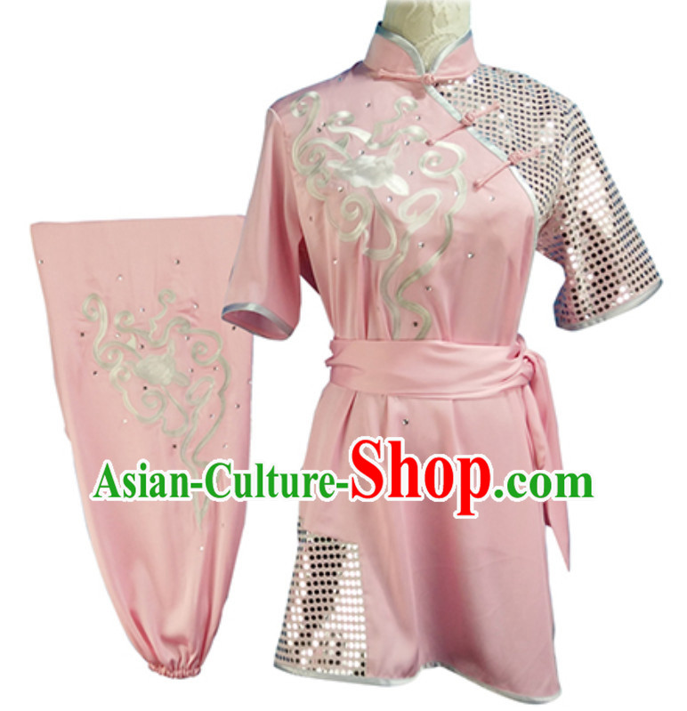 Custom Made Top Mulan Short Sleeves Best and the Most Professional Kung Fu Competition Clothes Contest Suits for Adults Children