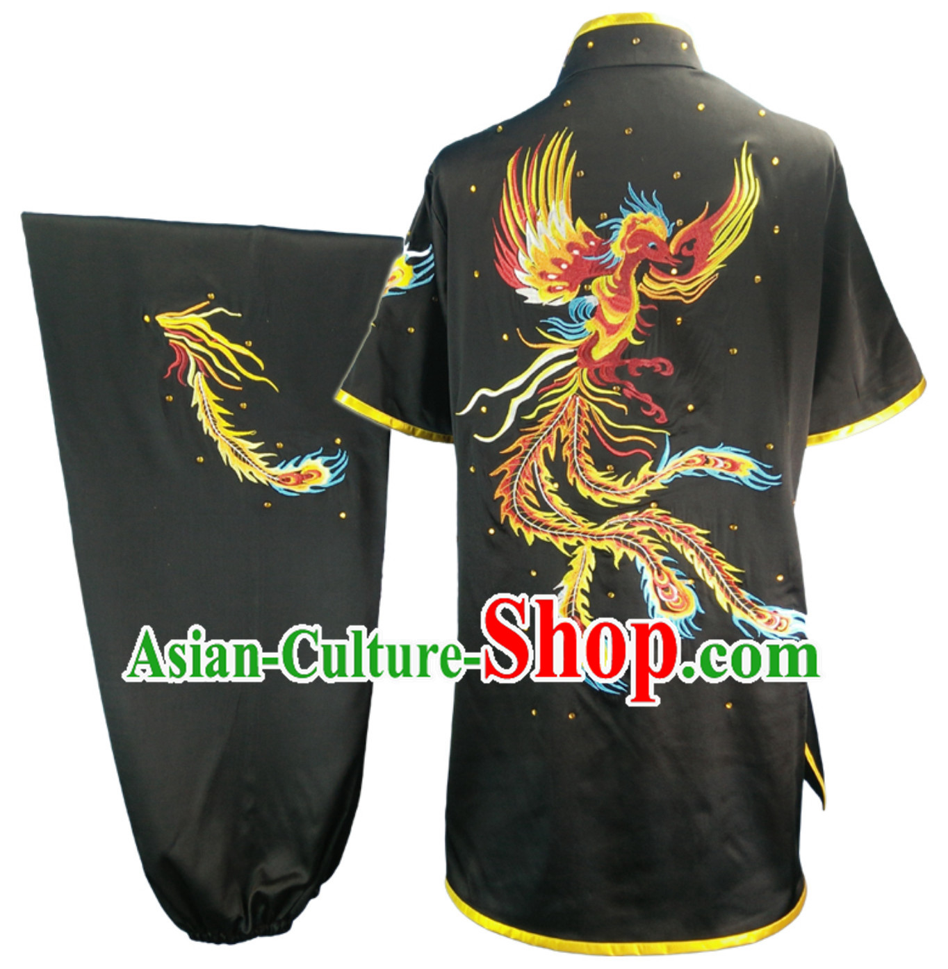 Top Changquan Nanquan Long Fist Southern Fist Phoenix Embroidery Best and the Most Professional Kung Fu Martial Arts Clothing Competition Dresses