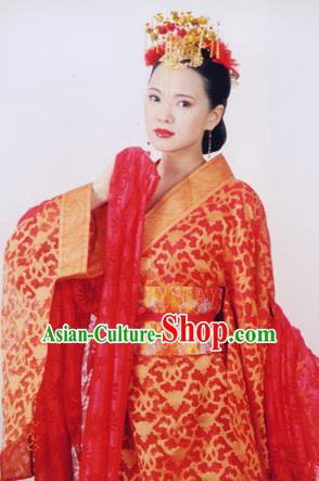 Chinese Ancient Ming Dynasty Qinhuai Courtesan Liu Rushi Embroidered Dress Costume for Women
