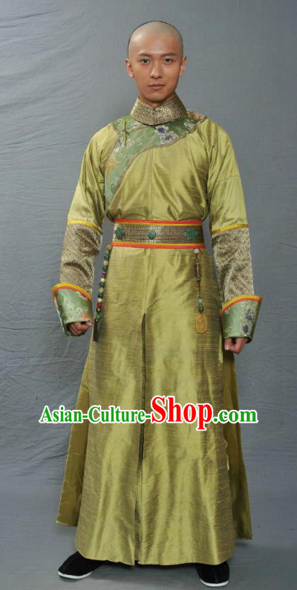 Chinese Ancient Qing Dynasty Manchu Ten Prince of Kangxi Yin-E Replica Costume for Men
