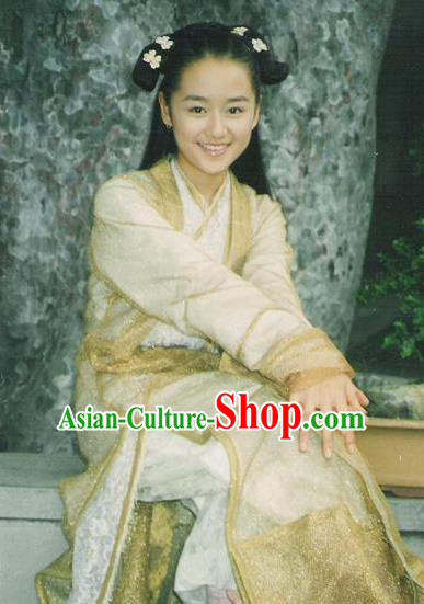 Chinese Ancient Ming Dynasty Palace Lady Changping Princess Embroidered Dress Costume for Women