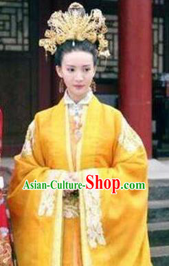 Chinese Ancient Ming Dynasty Palace Empress Jing Embroidered Dress Costume for Women