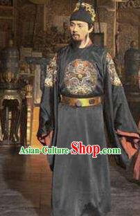 Traditional Chinese Ancient Ming Dynasty Minister Yuan Chonghuan Costume for Men