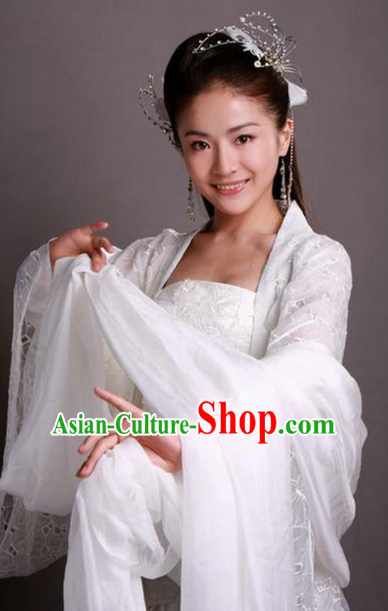 Chinese Ancient Ming Dynasty Palace Princess Dress Fairy Embroidered Historical Costume for Women