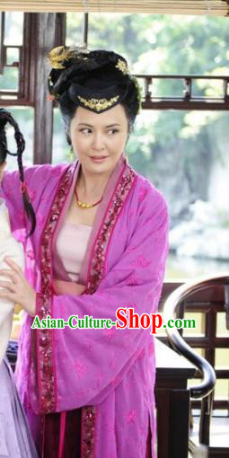 Chinese Ancient Ming Dynasty Courtesan Xu Fu Embroidered Historical Costume for Women